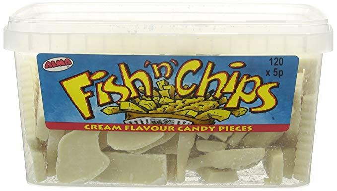 Alma Fish N Chips Tub 120 5p Pieces