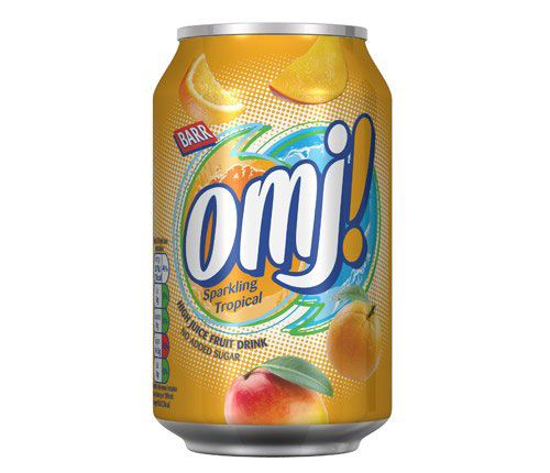 Barr OMJ Sparkling Tropical 330ml Can (UK)