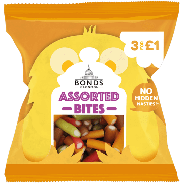 Bonds Assorted Pencil Bites 50g packet (UK)