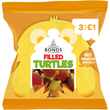 Bonds Filled Turtles 50g ( UK )