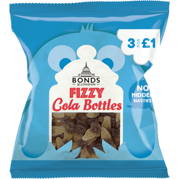Bonds Fizzy Cola Bottles 50g Packet (UK)