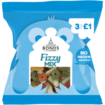 Bonds Fizzy Mix 50g packet	(UK)
