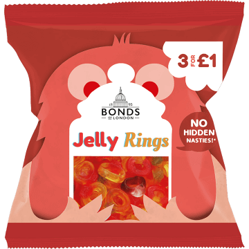 Bonds Jelly Friendship Rings 50g (UK)
