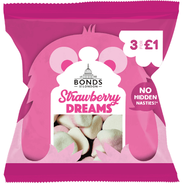 Bonds Strawberry Dreams 50g ( UK )