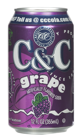 C&C Soda Grape 355ml (US)