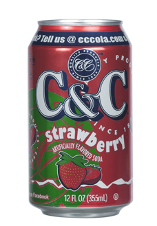 C&C Soda Strawberry 355ml  (US)