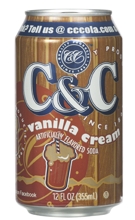 C&C Soda Vanilla Cream 355ml (US)