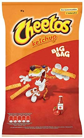 Cheetos Sticks Ketchup Flavour 85g Packet (Poland)
