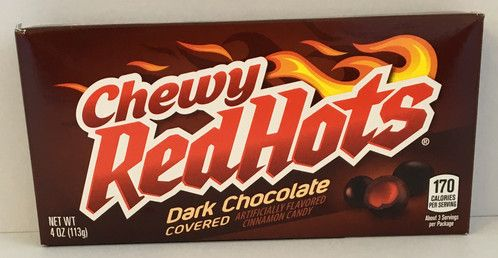 CHEWY REDHOTS DARK CHOCOLATE COVERED  (113G) (US)
