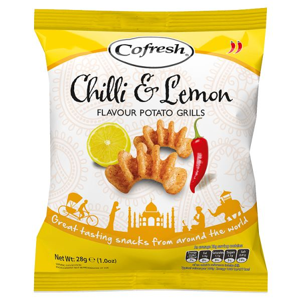 Cofresh Chilli & Lemon Flavour Potato Grills 28g