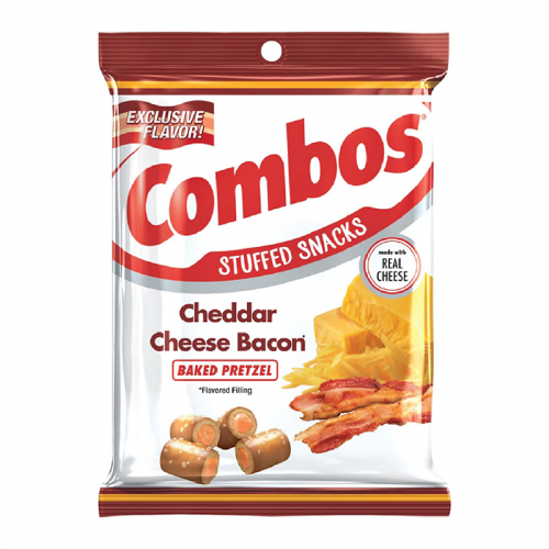 Combos Cheddar Cheese Bacon Baked Pretzel 6.3oz (178.6g) ( US )