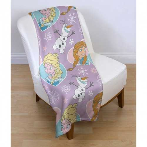 "Disney Crystal ""Frozen"" Character Fleece Snuggle Blanket Throw"