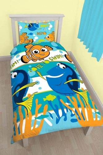 "Disney Finding Dory ""Reversible"" Single Duvet Cover Bedding Set"