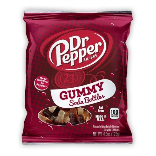 Dr Pepper Gummy Soda Bottles 4.5oz (US)