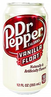 Dr Pepper Vanilla Float 355ml Can (US)