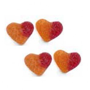 Dulce Peach Hearts 1kg Bag ( Spain )