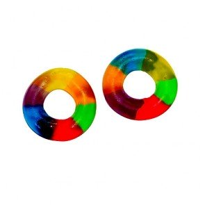 Dulce Plus Multicolour jelly Rings 1kg Bag ( Spain )
