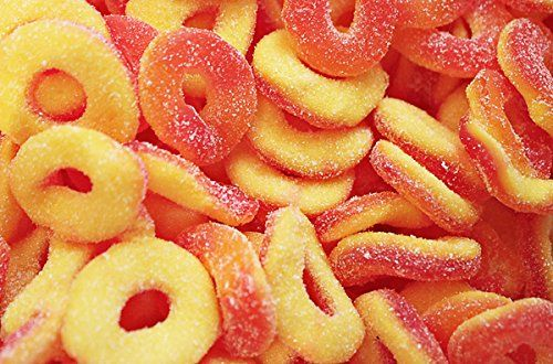 Dulce Plus Peach Rings 1kg Bag