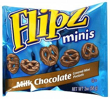 Flipz Milk Chocolate Pretzel Minis 56g (US)