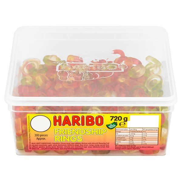 HARIBO Friendship Rings Full Tub 300 Pieces