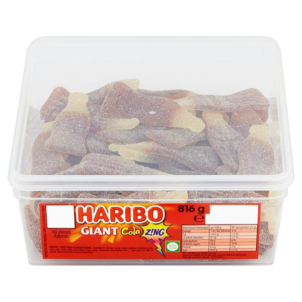 HARIBO Giant Cola Z!ng 60 Pieces 816g