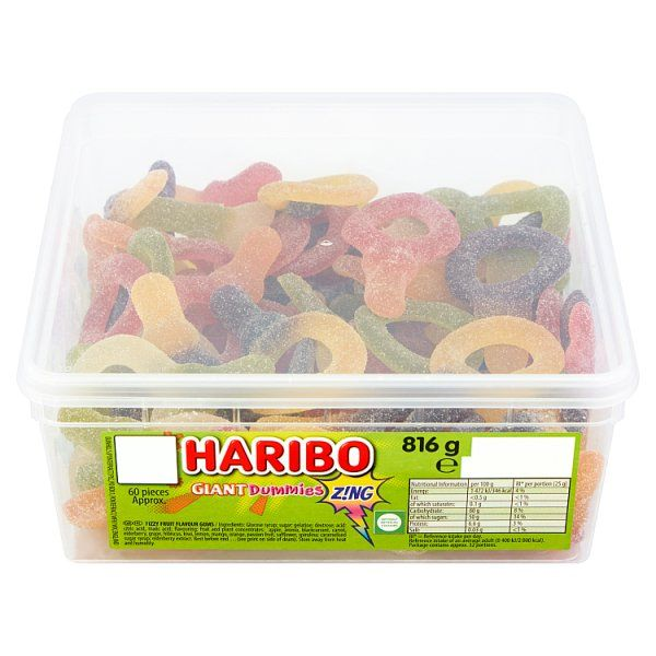 HARIBO Giant Dummies Zing  X60 10p Pieces 816g