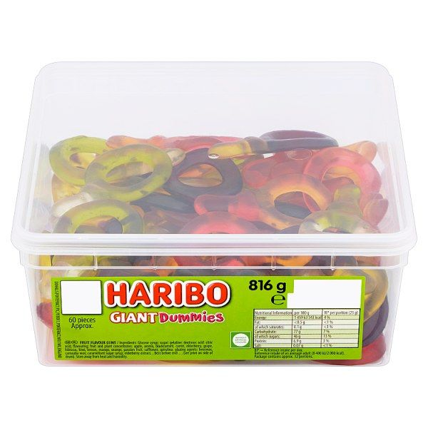 HARIBO Giant Suckers X60 10p Pieces 816g