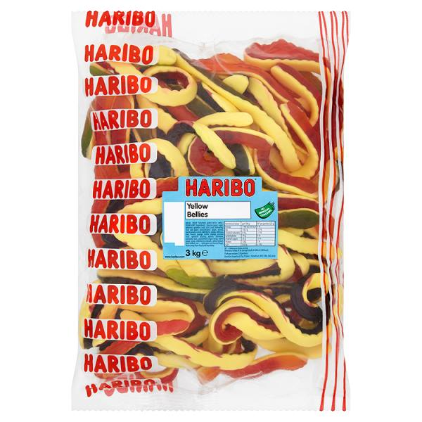 Haribo Giant Yellow Bellies 3kg Bag