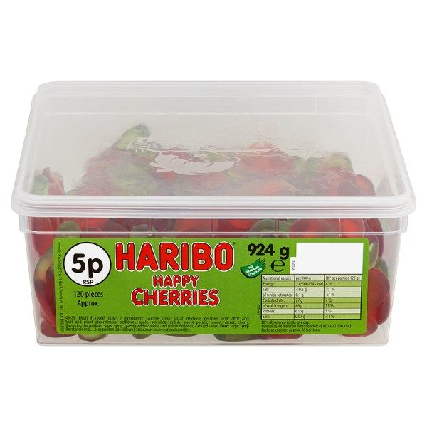 HARIBO Happy Cherries 120 Pieces 924g