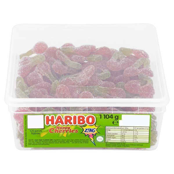 HARIBO Happy Cherries Z!ng Tub 120 5p Pieces 1104g