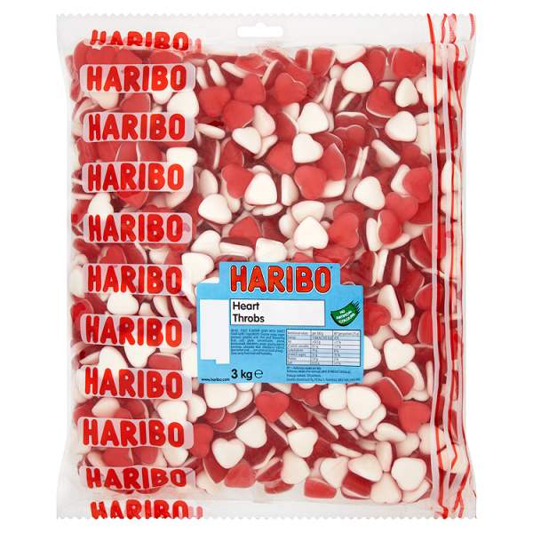 Haribo Heart Throbs 3kg Bag