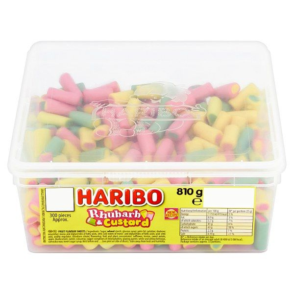 Haribo Rhubarb & Custard 2p Tub 300 Pieces