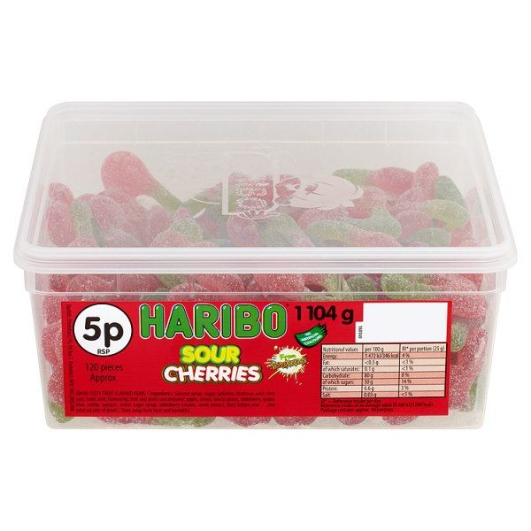 HARIBO Sour Cherries 120 Pieces 1104g