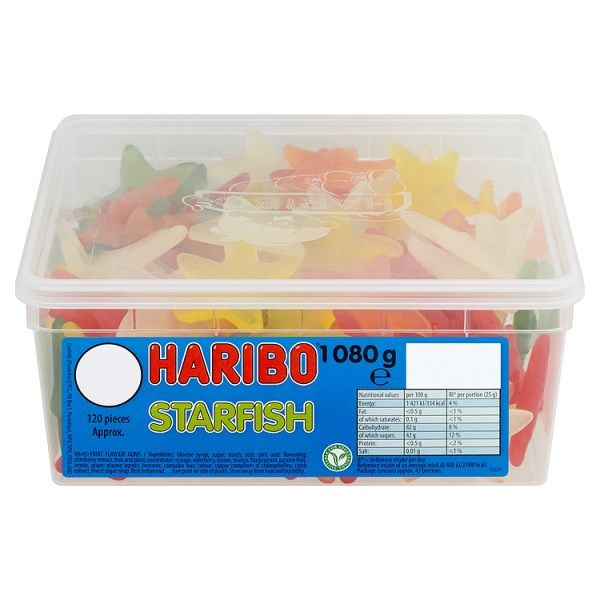 HARIBO Starfish Full Tub 120 Pieces