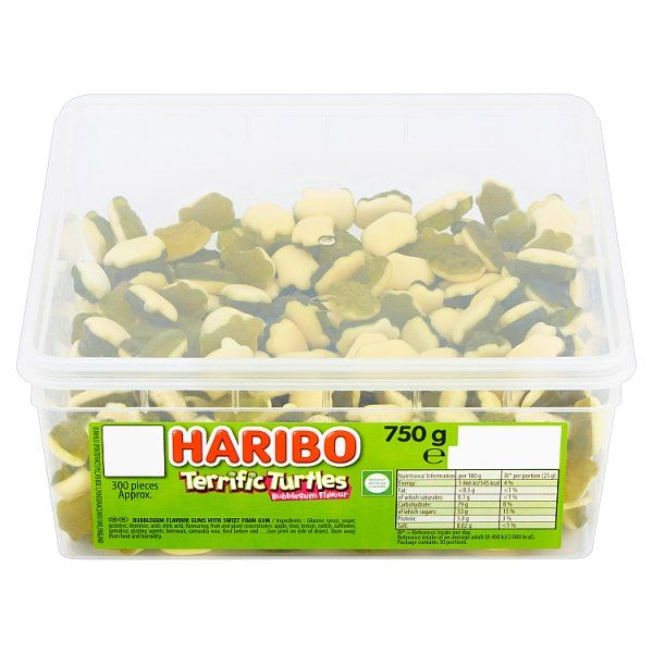 HARIBO Terrific Turtles 2p X300  Pieces 750g