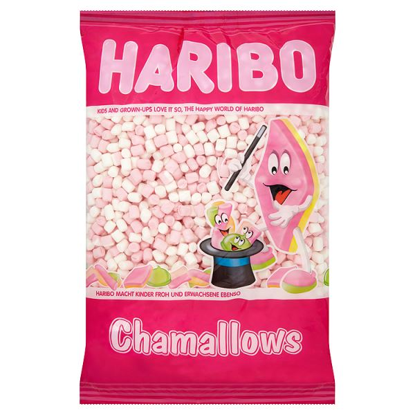 HARIBO White and Pink Mini Mallows 1kg