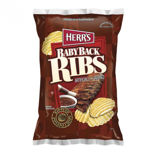 Herr's Baby Back Ribs Potato Chips 6.5oz (US)