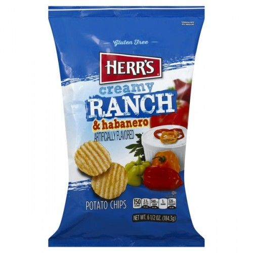 Herr's Creamy Ranch & Habanero Potato Chips - 6.5oz (US)