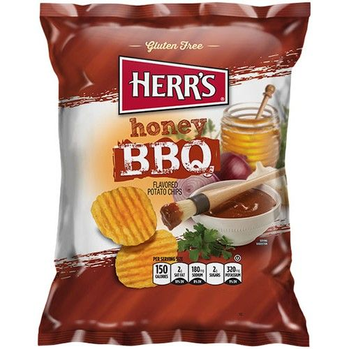 Herr's - Honey BBQ Potato Chips - 1oz (28g) (US)