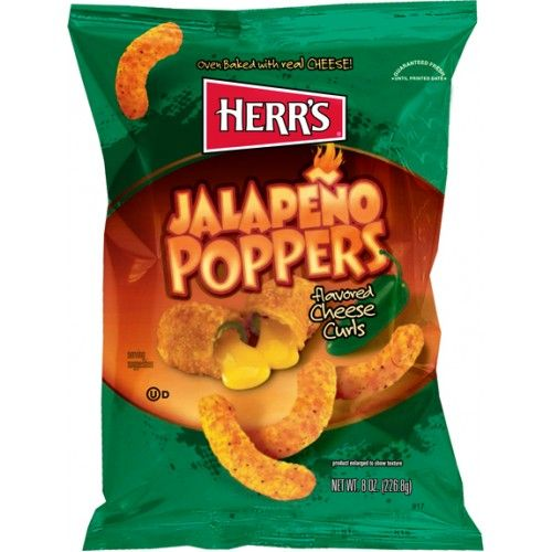 Herr's Jalapeno Poppers Potato Chips 1oz (29g) (US)
