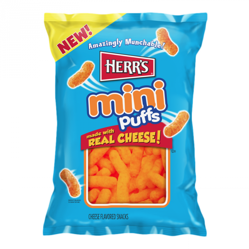 Herr's Mini Cheese Puffs 6oz BIG BAG (170g) (US)