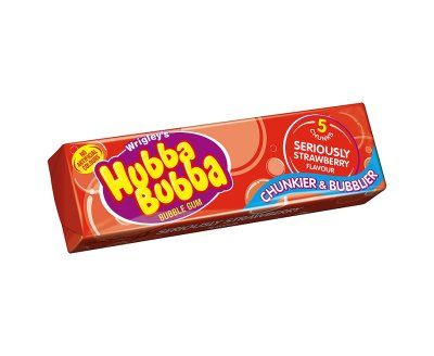 Hubba Bubba Bubble Gum Seriously Strawberry Flavour 5 Chunks  (UK)