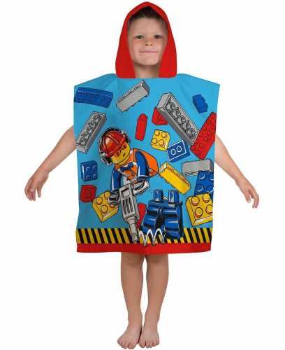 "Lego City ""Construction"" Character Hooded Towel Poncho"
