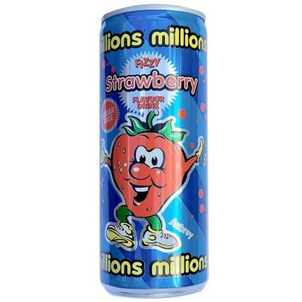 Millions Strawberry Flavour Fizzy Drink 250ml (UK)