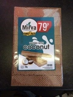 Mirva Wafer with Coconut Family Pack 375g  (Republic of Macedonia)