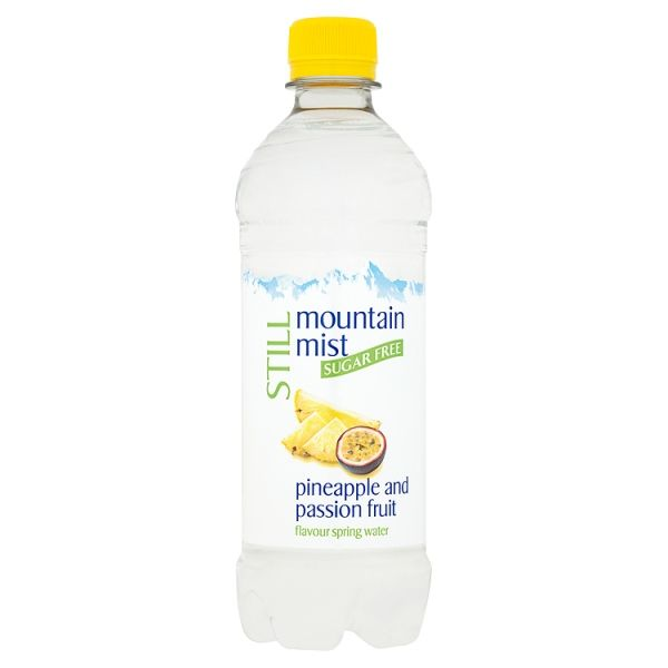 Mountain Mist Still Sugar Free Pineapple and Passion Fruit Flavour Spring Water 500ml
