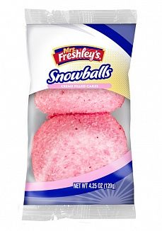 Mrs Freshley's Pink Snowballs Cakes Twin Pack (US)