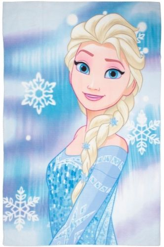 "Official Disney Frozen Elsa ""Lights"" Character Fleece Snuggle Blanket Throw"