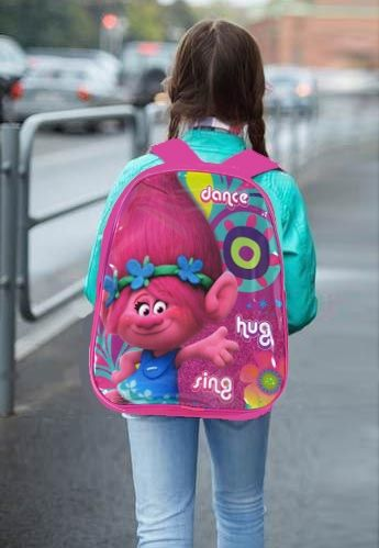 "Official Trolls ""Poppy"" Character Ex-Large School Backpack"