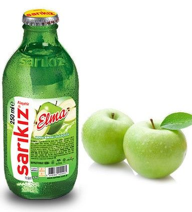 Sarikiz Elma Aromalı Mineral Water With Apple Soda - 250ml ( Turkey )